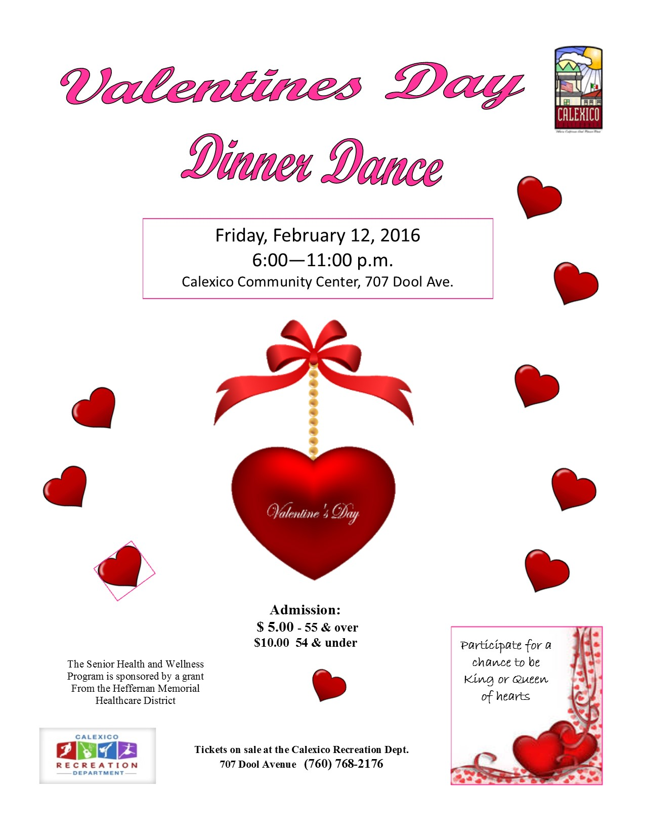 Valentines Day Dinner Dance Calexico Recreation Department